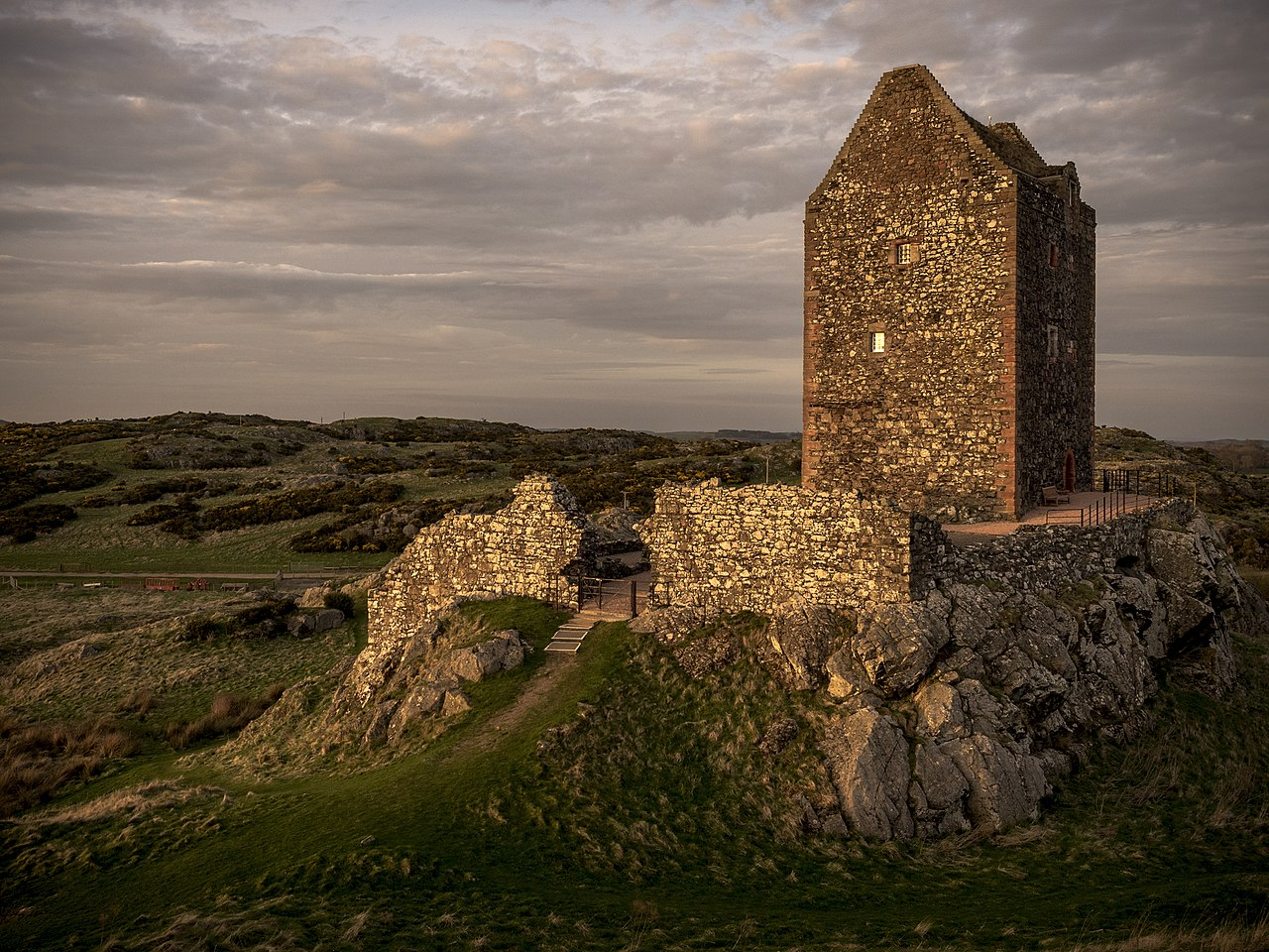 Commended and best image from Scotland 2017: Smailholm Tower, by Keith Proven