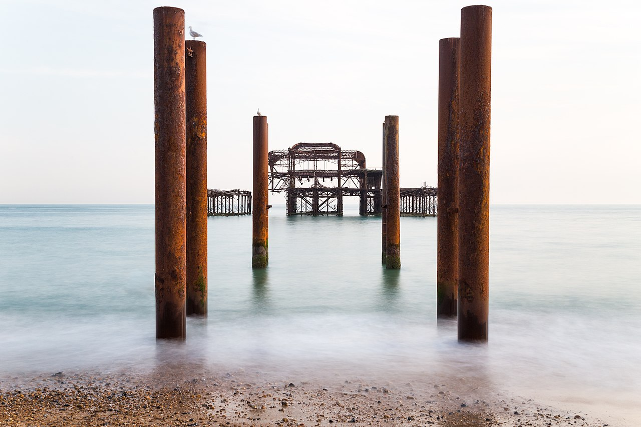 The Derelict West Pier at Brighton, by Mathew Hoser
