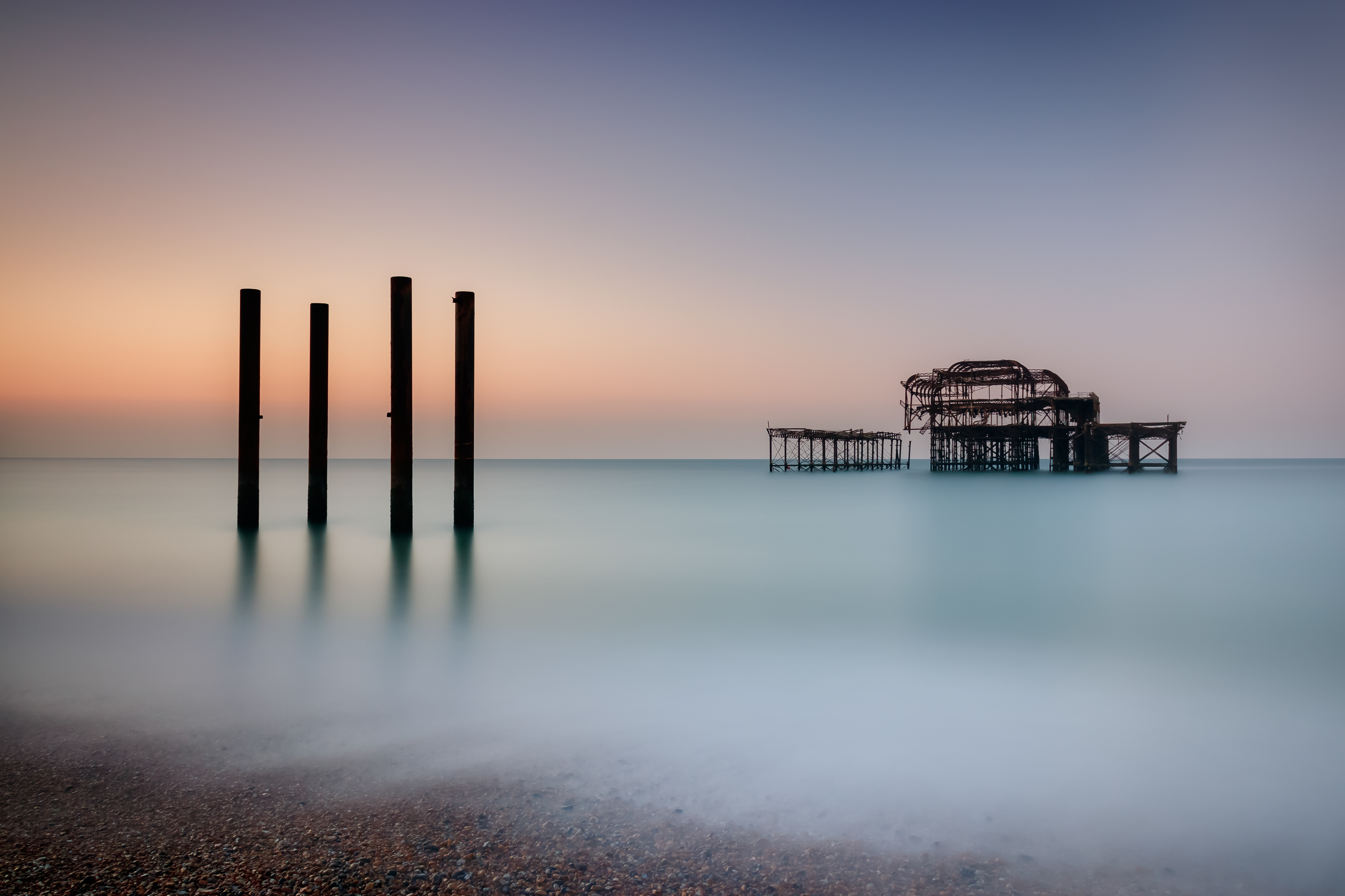 Sunrise at West Pier (Brighton)