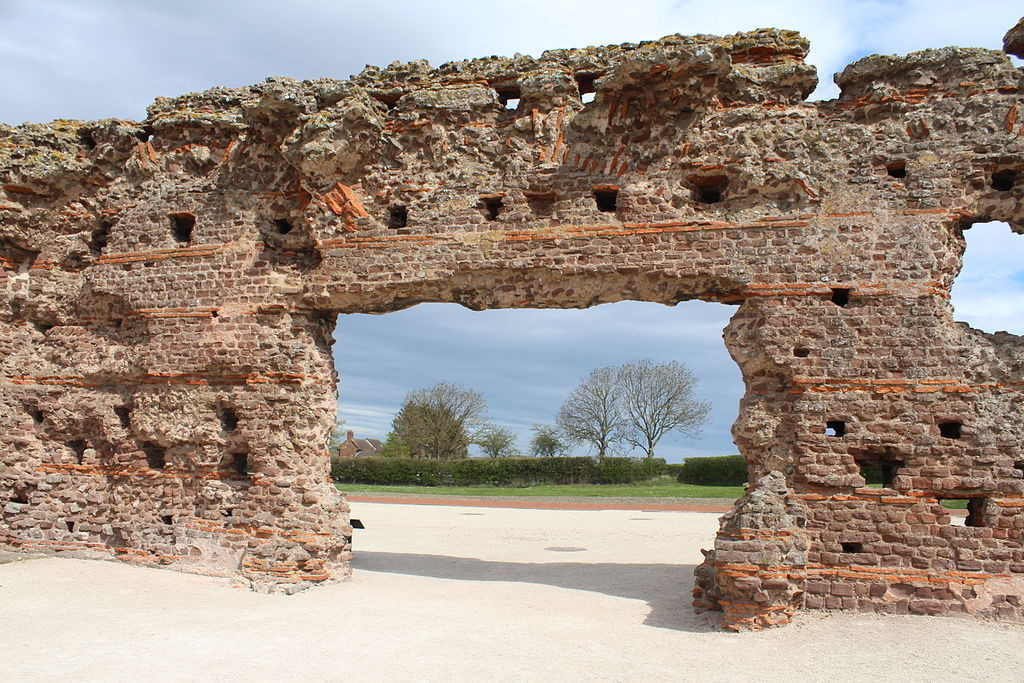 The baths within the remains of Wroxeter Roman city by Stewart Watkiss