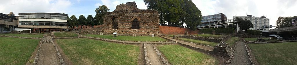 Remains of the Roman baths in Leicester