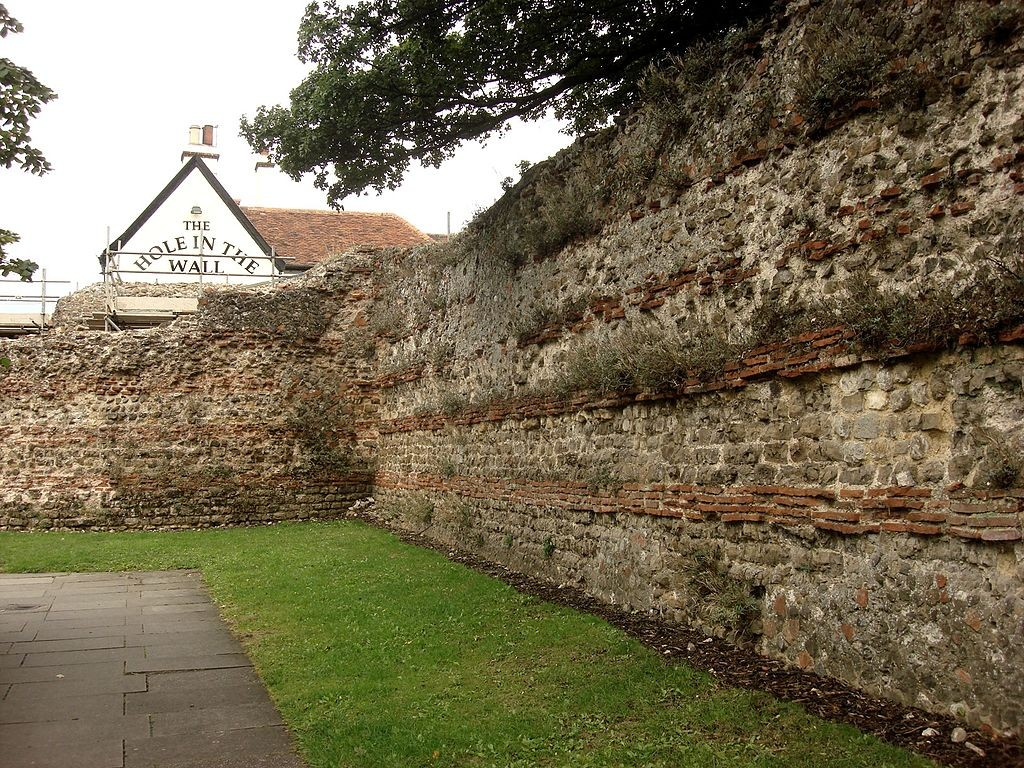 The Roman town walls at Colchester by Maria