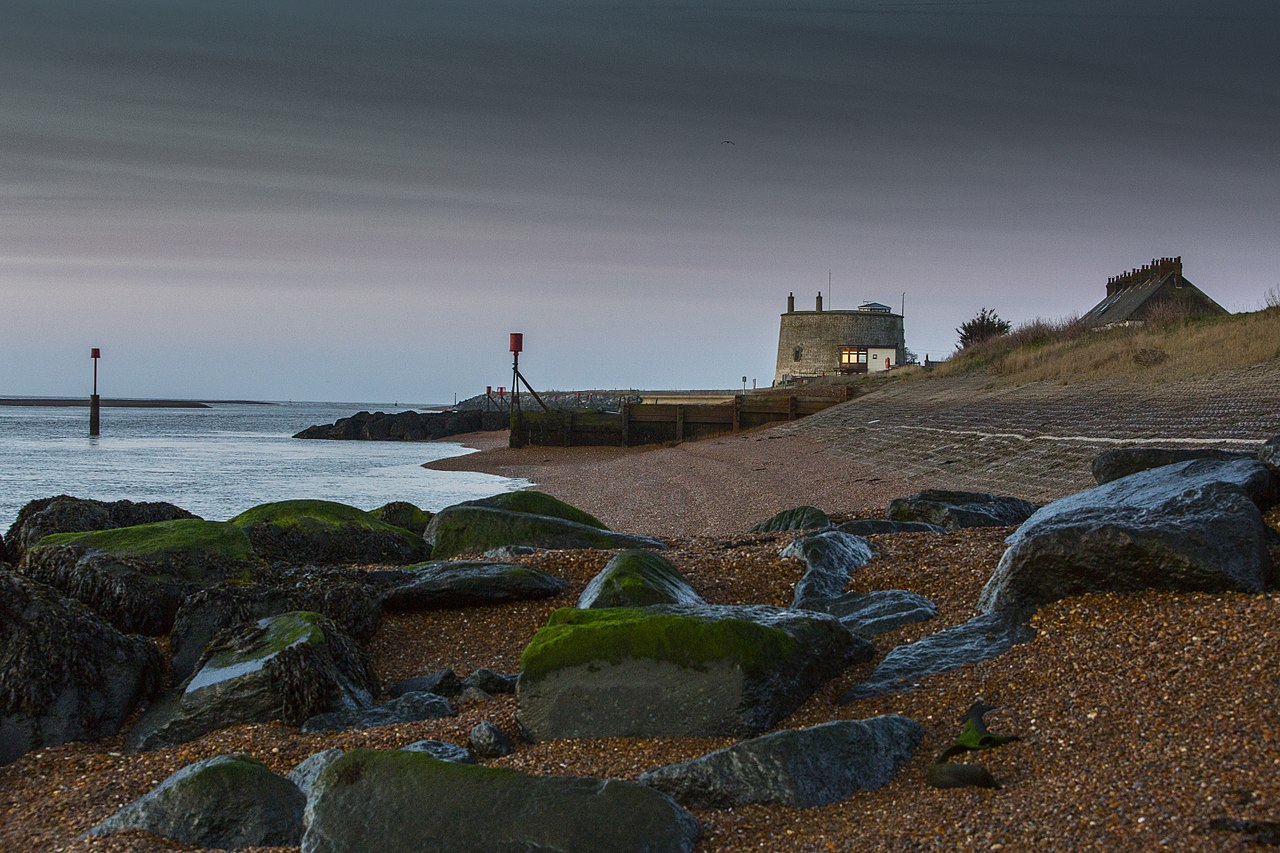 Martello tower at Felixstowe Ferry, Suffolk, by Tony Lockhart
